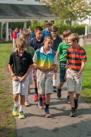 Fenn students walking in group